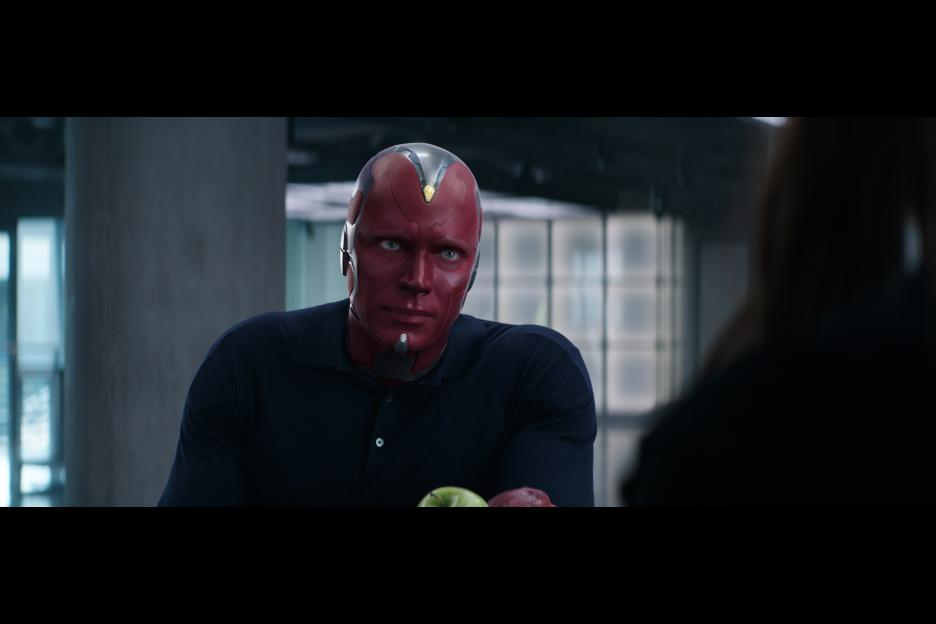 The Vision (Paul Bettany), a soulful android. © Marvel 2016