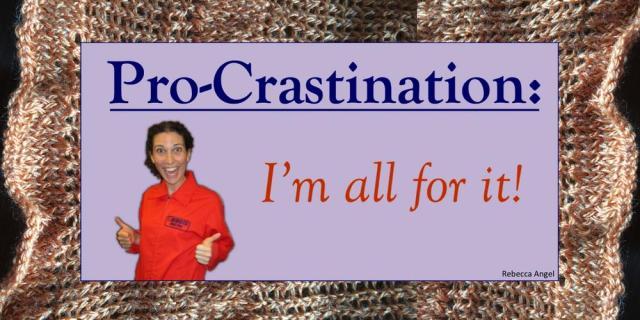 pro crastination knit