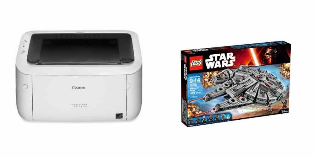 Wifi-Enabled Laser Printer for $100; 20% off the LEGO Millennium Falcon – Daily Deals