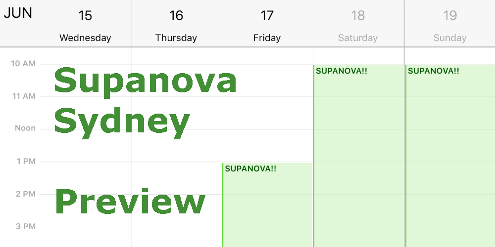 Supanova Sydney 2016: Preview