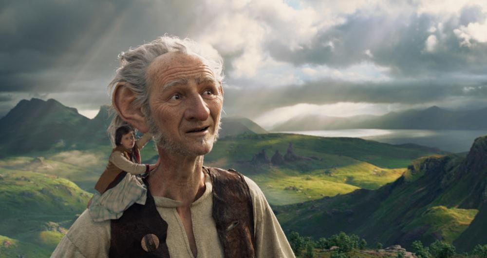 BFG and Sophie travel through Giant Country in 'The BFG'. Image © Disney
