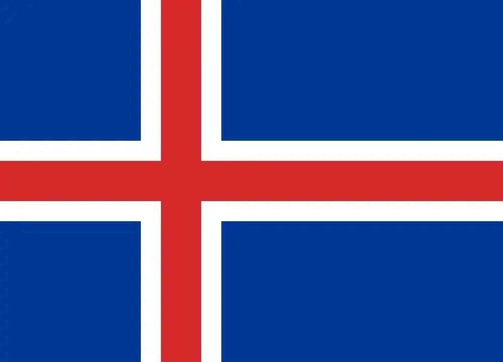 The Iceland flag. Image: Public Domain