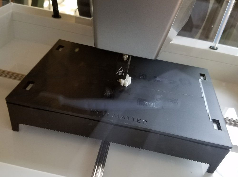 Printing a GeekDad meeple.