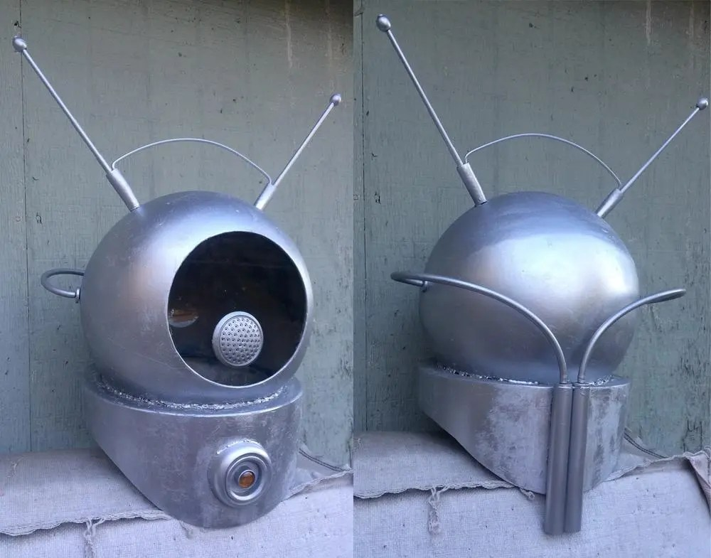 My Robot Monster helmet. If you haven't seen Robot Monster, go find it now, I'll wait. Photos by Jim MacQuarrie