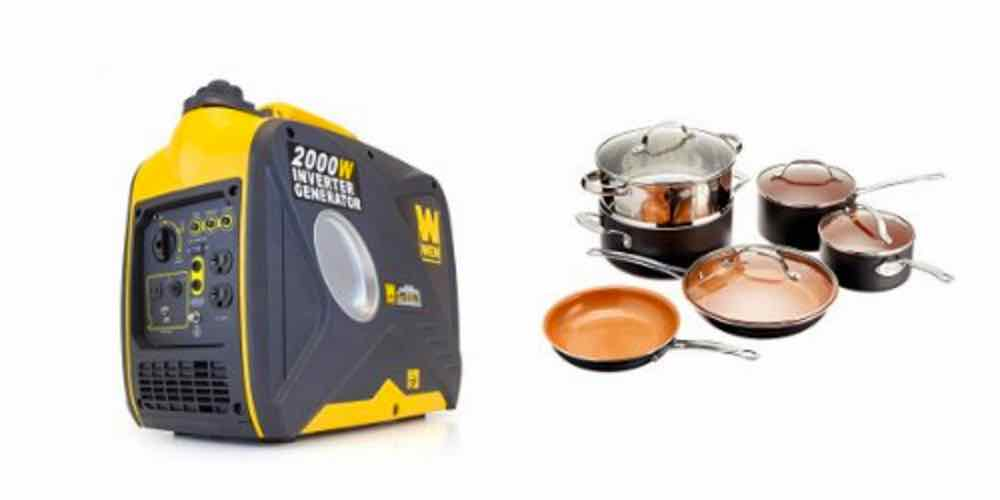 Save Big on a Portable Generator and Ultra-Nonstick Pots and Pans – Daily Deals!
