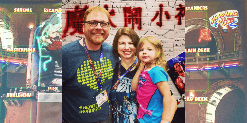 Most of the Tolbert Clan at the Legendary booth. Photo by Jonathan Liu