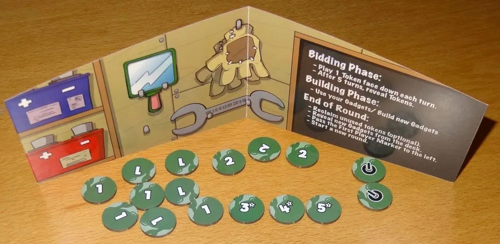 Gadgeteers screen and tokens
