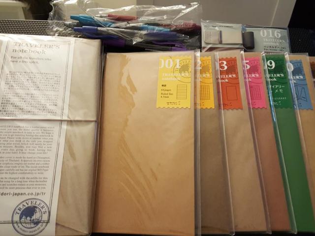 Midori Traveler's Notebook and Refills. Image by Jules Sherred