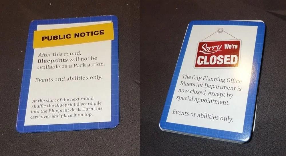 Unfair closure card