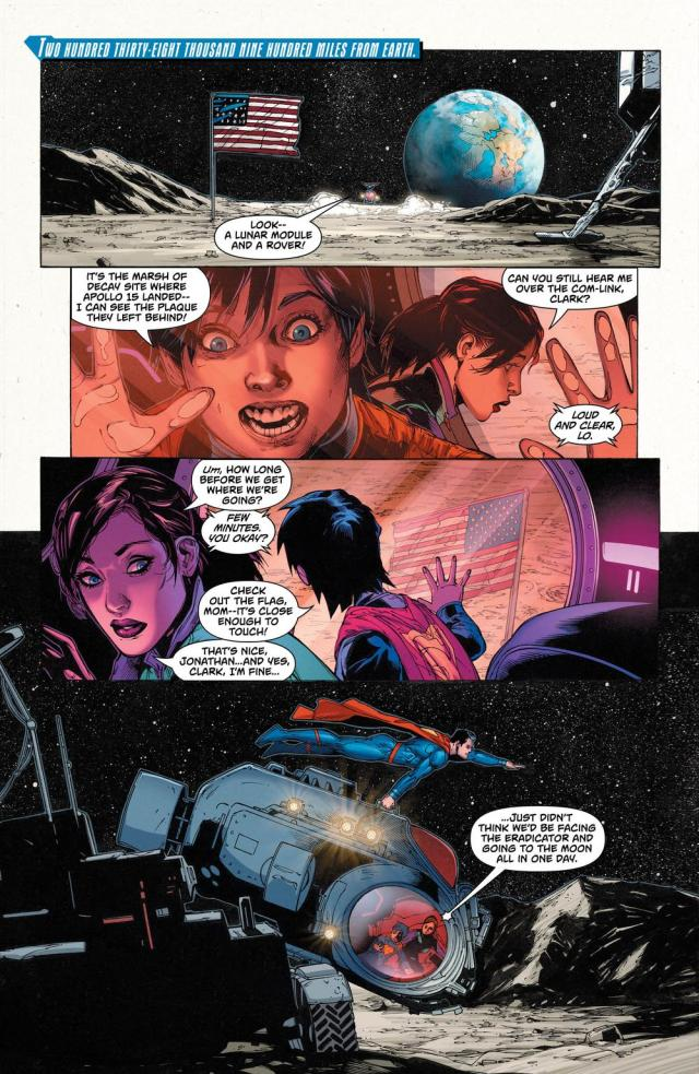 """""""That's nice,"""" is all you have to say about the Moon, Lois? image via DC Comics"""