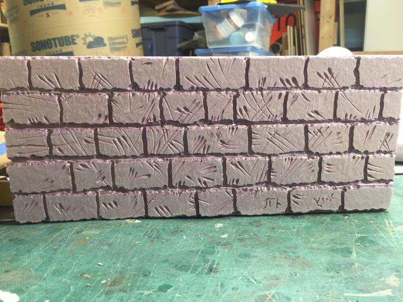 Carved polystyrene