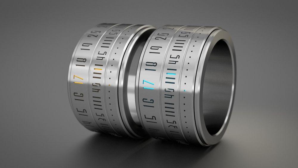 13 relojes Geeky: anillo de reloj