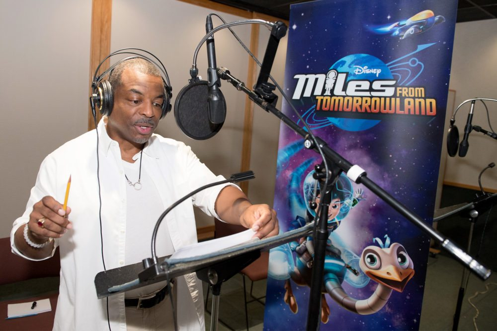 MILES FROM TOMORROWLAND - LeVar Burton recording session. (Disney Junior/Todd Wawrychuk) LEVAR BURTON