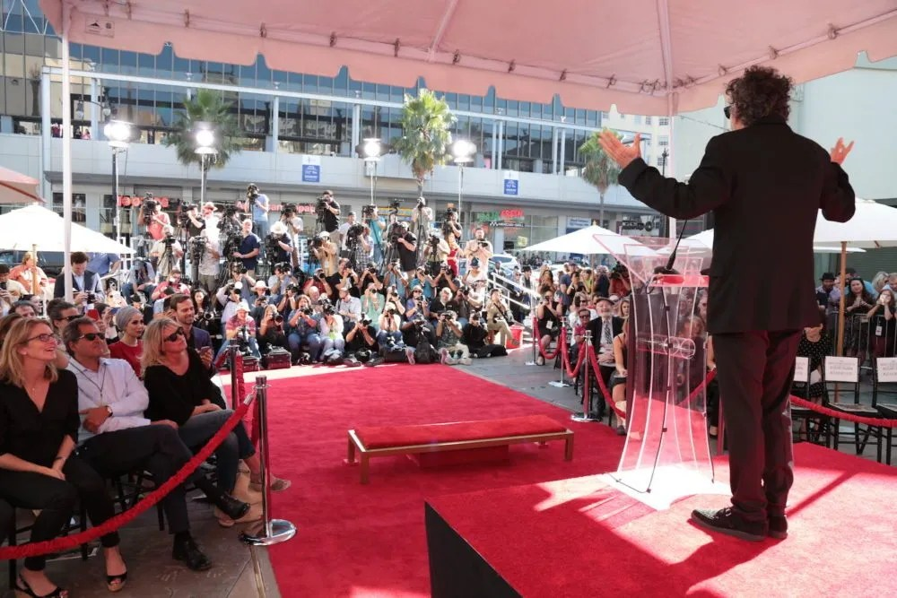Tim Burton at Chinese Theatre