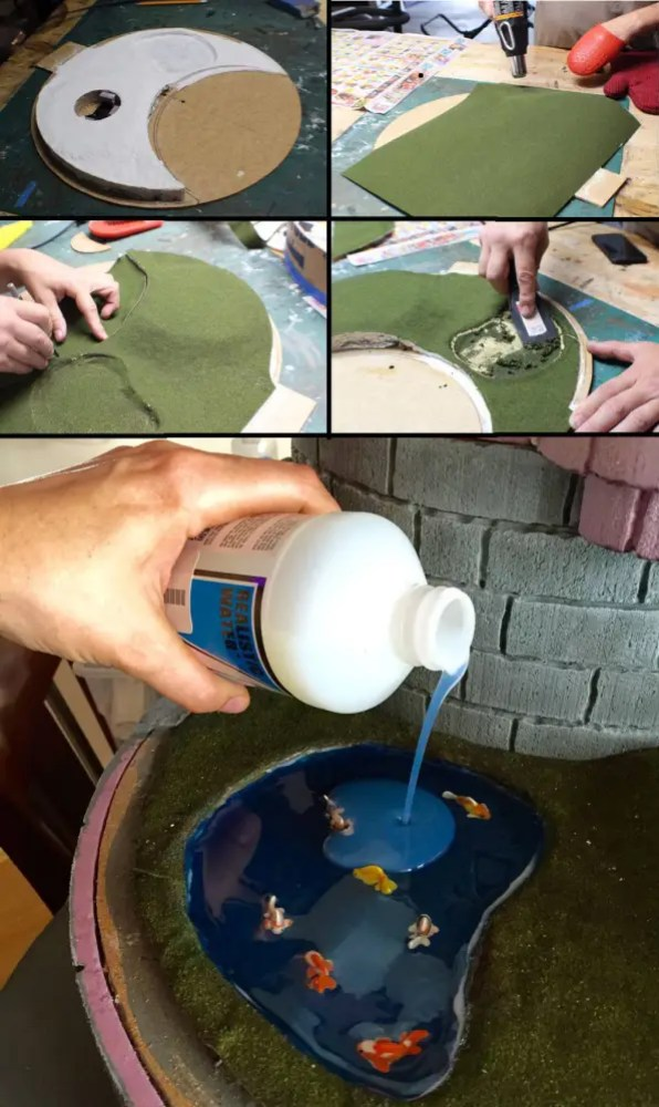 Creating the pond.