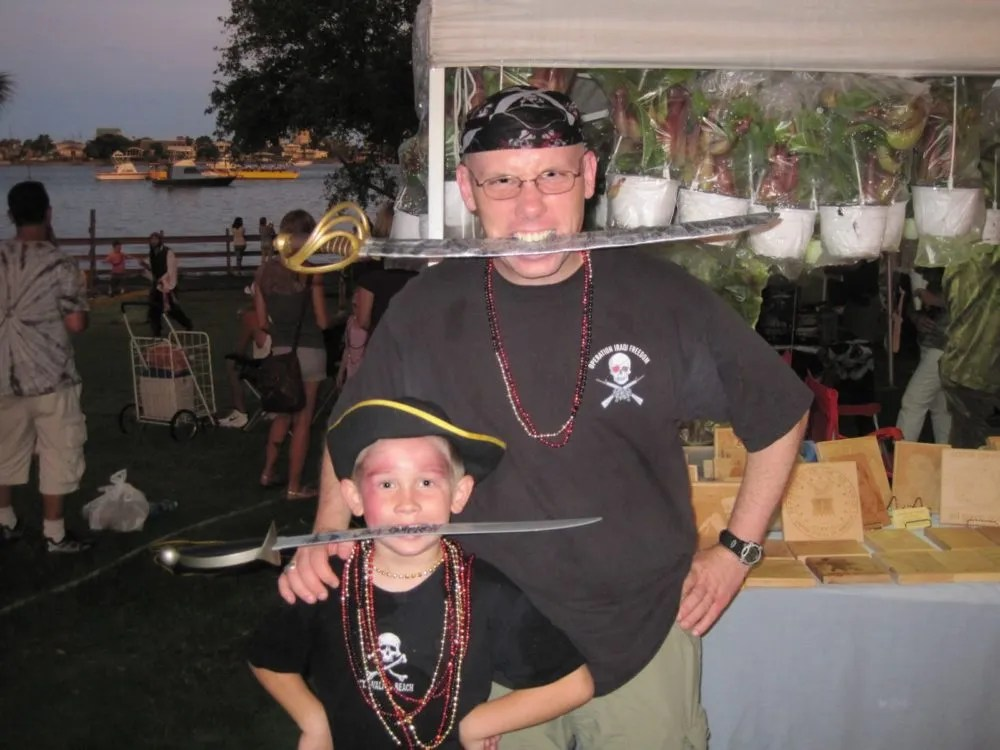 Thar she blows! Dads n' lads alike can enjoy the Billy Bowlegs Pirate Festival in Fort Walton Beach, FL! Photo: Patricia Vollmer