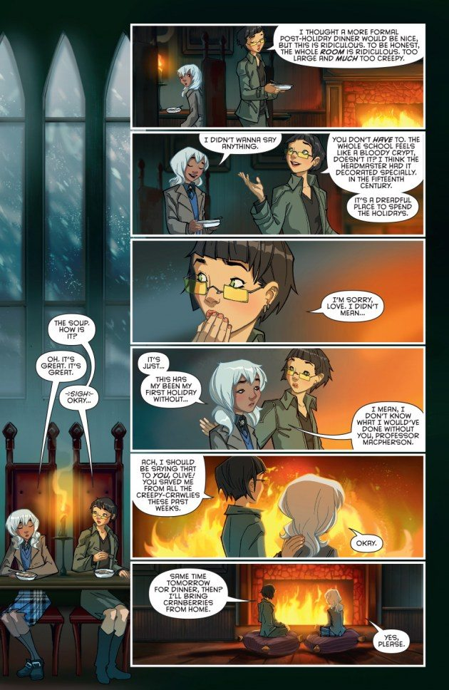 Olive is not too happy with her semester break at Gotham Academy. Image copyright DC Comics
