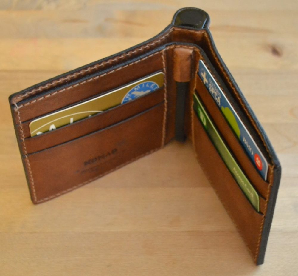 Nomad Leather Charging Wallet for iPhone