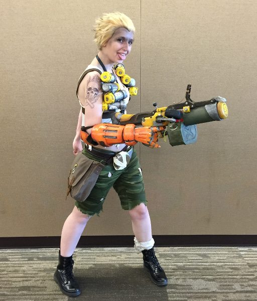 Junkrat costume player from 'Overwatch' at PAX 2016.