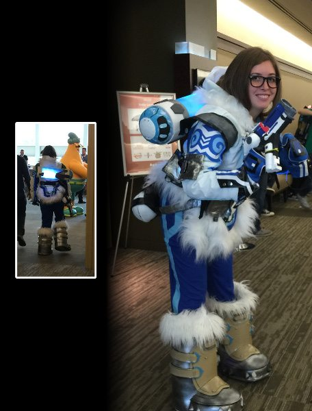 Overwatch cosplay at PAX West 2016, Mei.