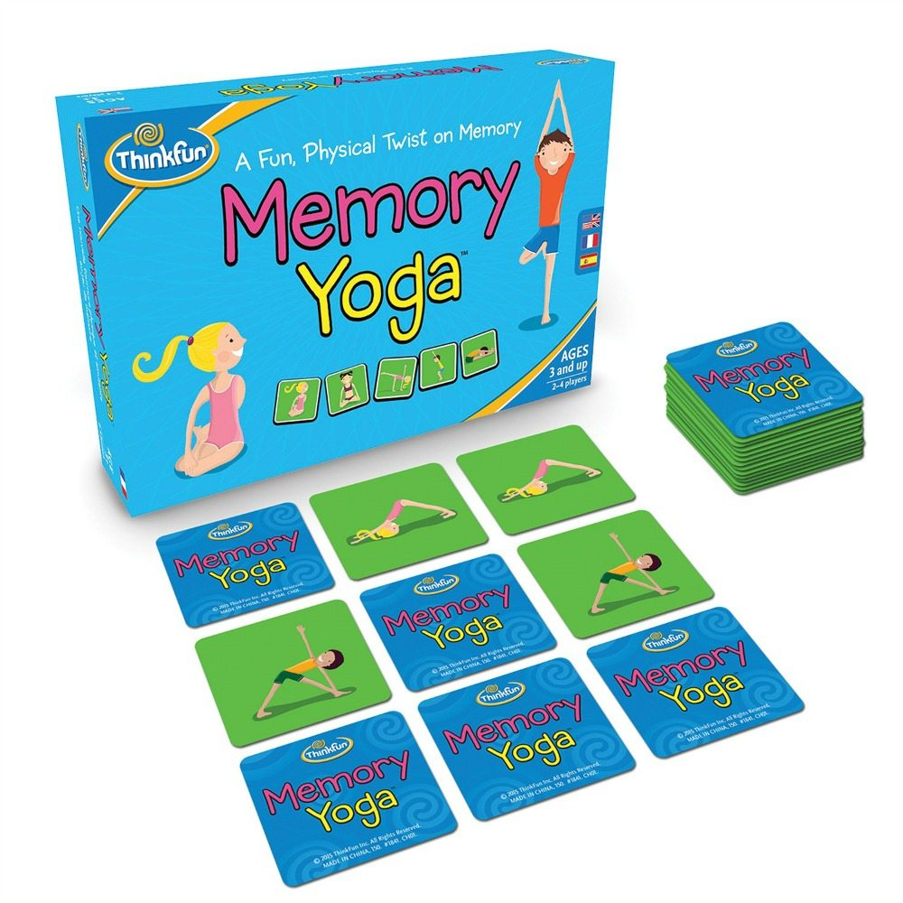 Memory Yoga, yoga, mindfulness, fitness, chidlren's games, family games, movement games