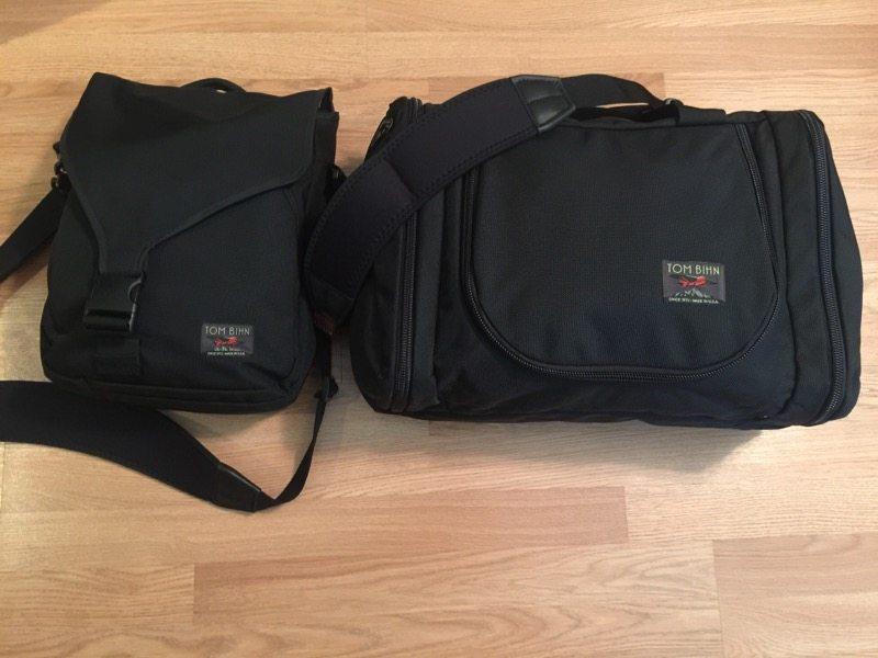 Option 1: Take the Aeronaut 30 along with my Ristretto Messenger bag (Photo by Skip Owens)