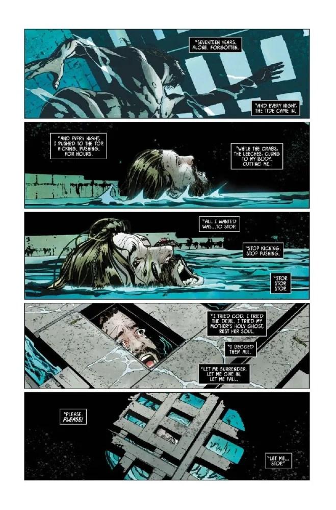 Bane struggles to survive in Batman #9. Image via DC Comics