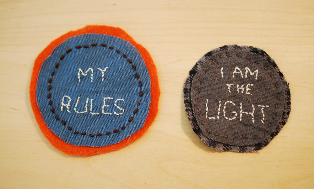 My halfway decent attempt at merit badges. Photo: Jenny Bristol