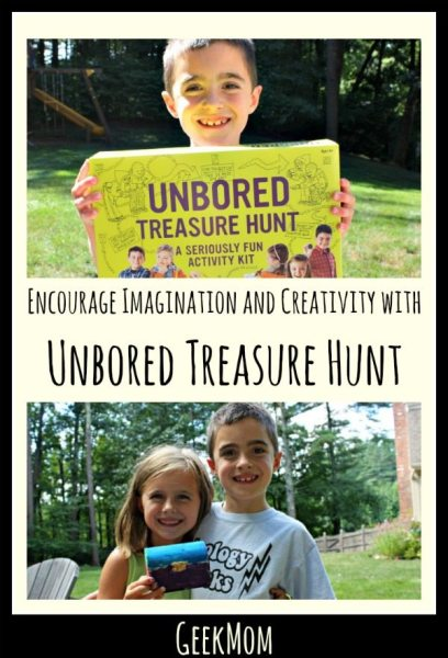 Encourage Imagination and Creativity with Mindware Toys Unbored Games Treasure Hunt Caitlin Fitzpatrick Curley My Little Poppies GeekMom Unbored Treasure Hunt