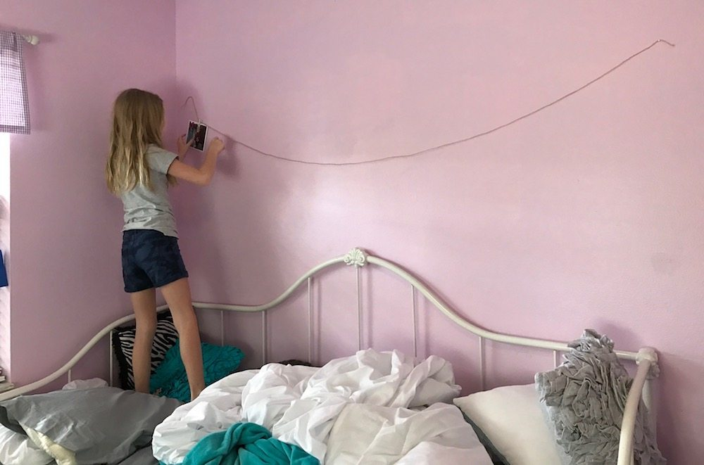 Putting them up herself was her favorite part. (Image Credit: Anthony Karcz)