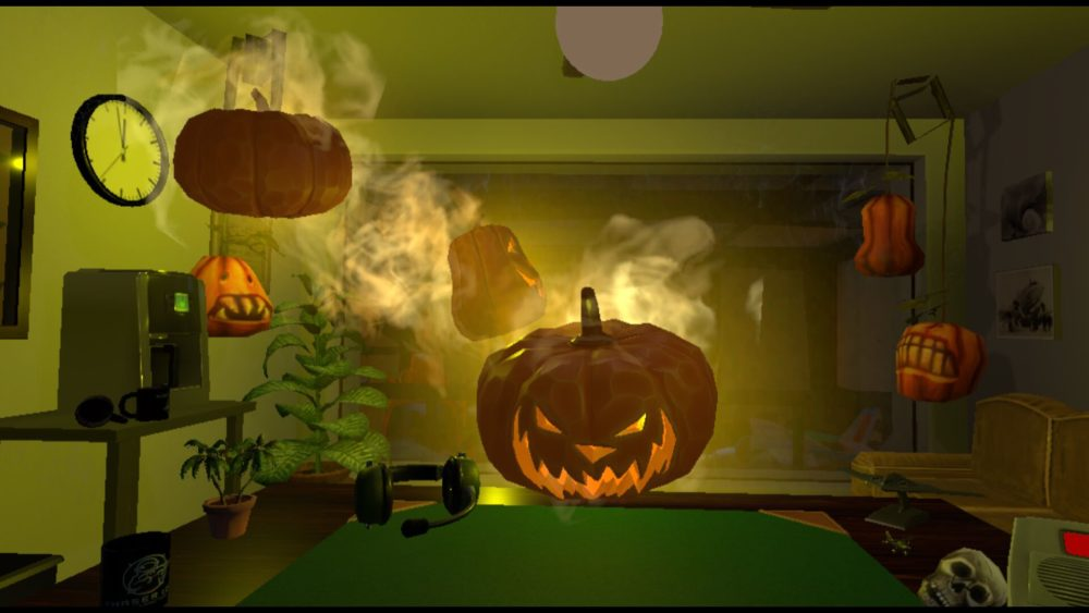 Flying jack-o-lanterns invade your office in Final Approach's Halloween Drop