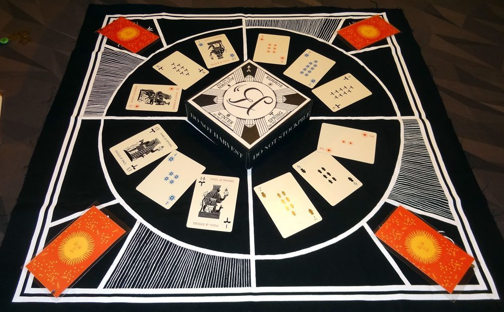 Illimat setup for 4 players