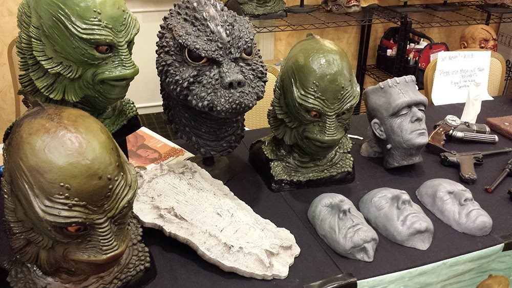 Models, masks, and more filled Monsterama's vendor halls.