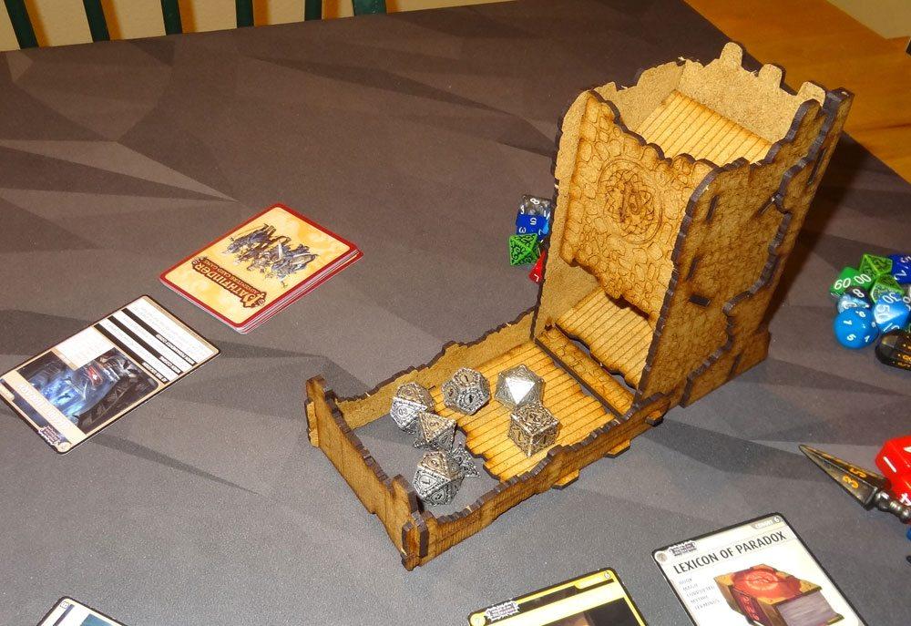 Pathfinder dice tower