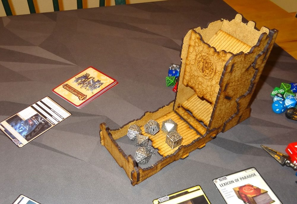 Pathfinder dice tower