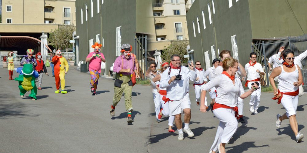 The annual Running of the Clowns.