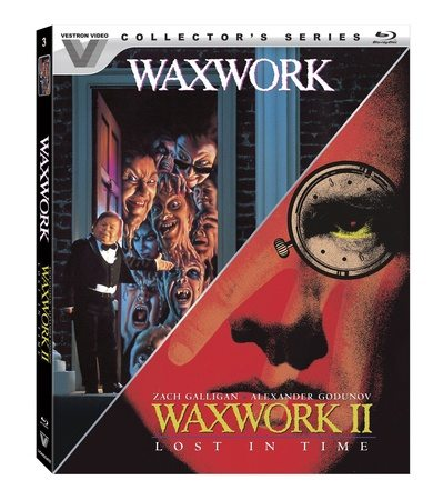 Vestron Video Collector's Series Blu-ray for Waxwork and Waxwork II: Lost in Time