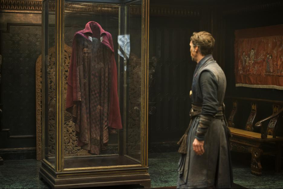 Doctor Strange meets his Cloak of Levitation.