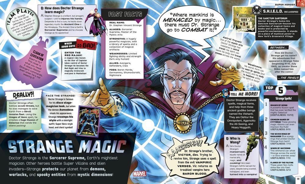 Interior Spread about Doctor Strange