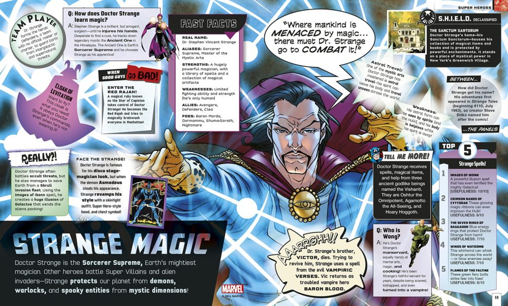 Interior Spread about Doctor Strange
