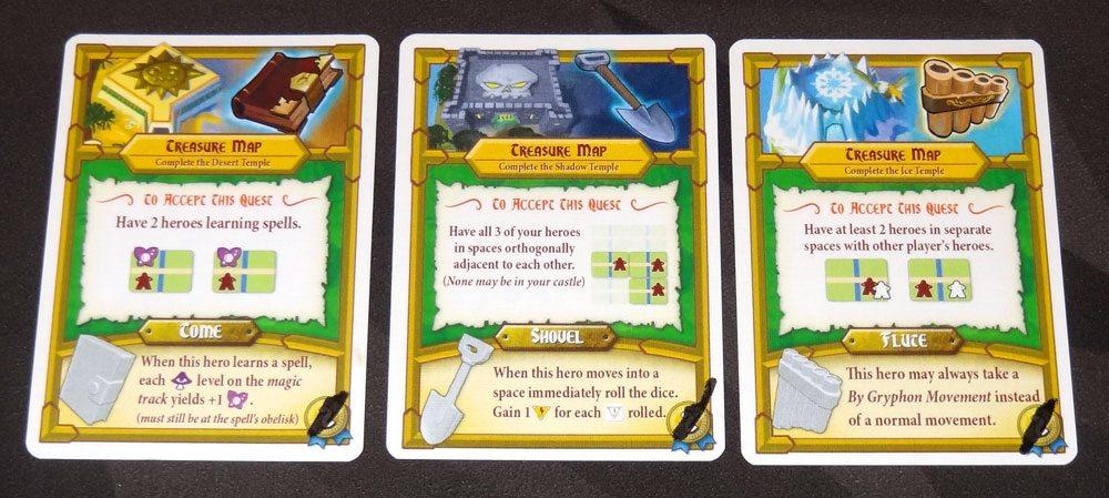 Tiny Epic Quest treasure quests