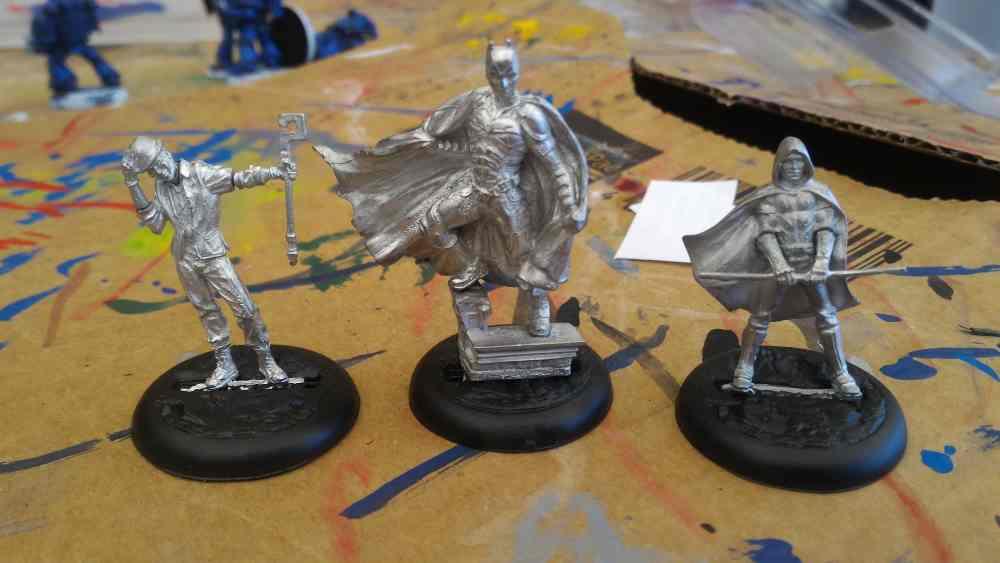 Unpainted Knight Models