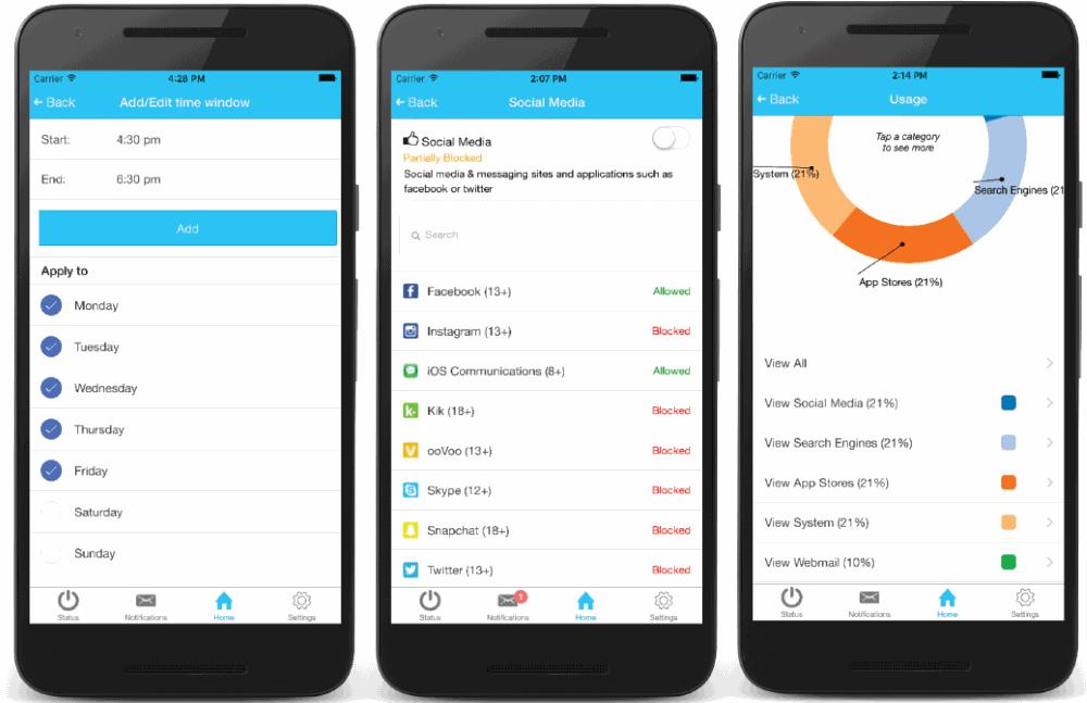 The Koala App screens