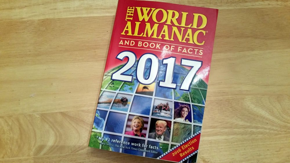 Looking Back on 2016 With a Copy of 'The World Almanac'