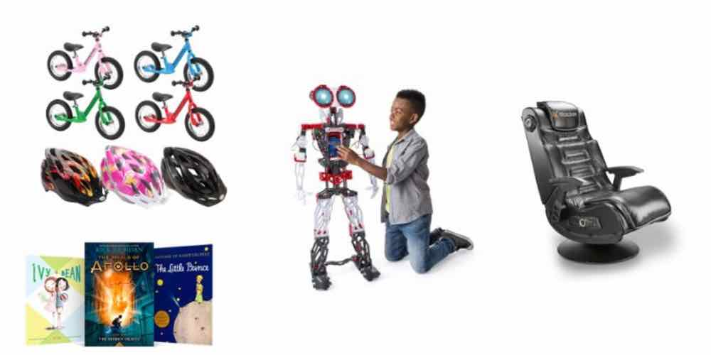 Holidaily Deals on Bikes for the Family, Kids Ebooks, Giant Toys, and Gaming Chairs!