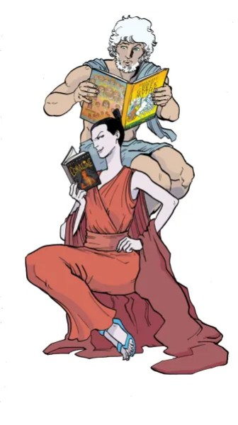 hera-and-zeus-reading-color