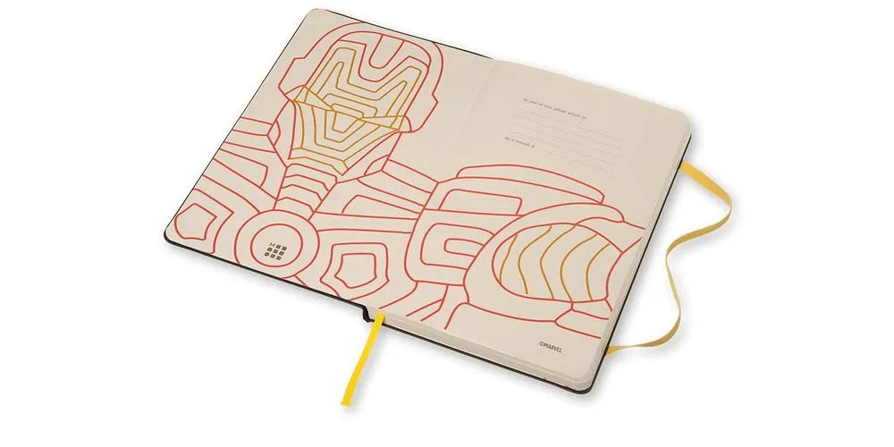 The close-up of the line art on the interior is a nice touch (Image Credit: Moleskine)