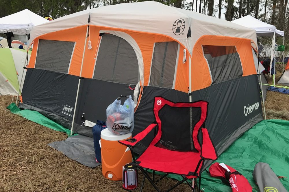 Base camp for our running/camping adventure (Image Credit: Anthony Karcz)
