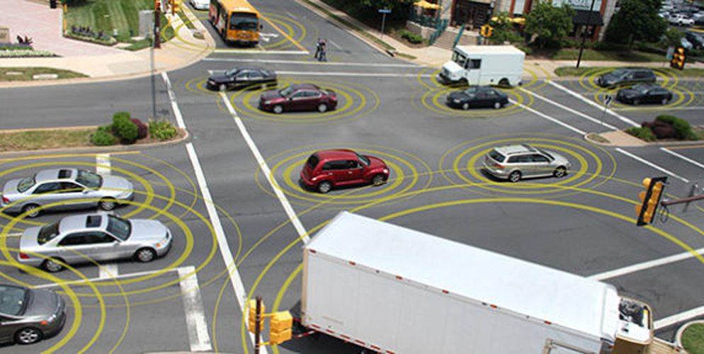 Vehicle-to-Vehicle (V2V) communication.