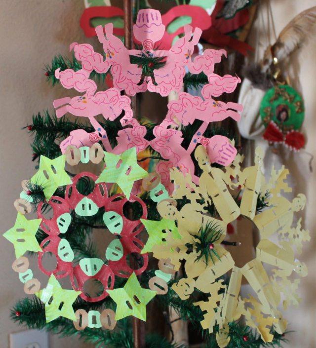 Construction paper snowflakes. Image: Lisa Kay Tate